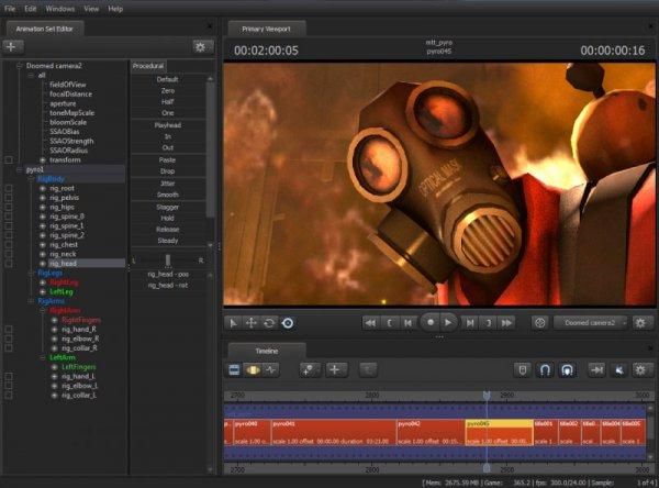 Source Filmmaker interface